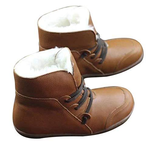 Classicoco 1 paar winterlaarzen voor dames, ronde schoenen, ademend, antislip