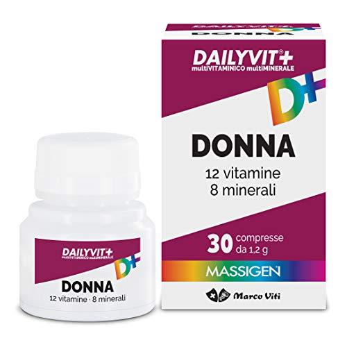 Massigen Dailyvit+ Donna - Mutltiminerale e Multivitaminco per le Donne - 30 compresse - 36 gr