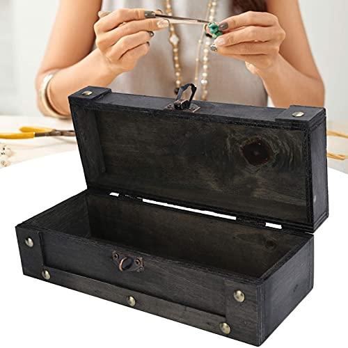 HMHMVM Caja clásica de madera de imitación vintage caja de estilo antiguo,para almacenar joyería,para accesorios de fotografía