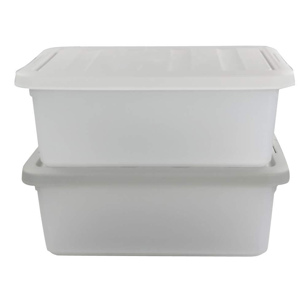 Sandmovie 15 L Cajas de Almacenaje de Plastico Con Tapa, Gris y Blanco, Paquete de 2: Amazon.es: Bricolaje y herramientas