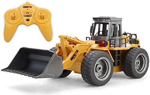 WGFGXQ Camión RC 1:18 6CH Control Remoto Bulldozer Tractor Juguetes para niños Regalo para niños Niñas Juego Interior al Aire Libre Cumpleaños Navidad