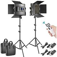 2-Pack Neewer Advanced 660 LED Video Light Photography Lighting Kit