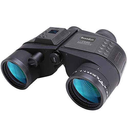Prismaticos Marinos 7X50 Prismáticos Nauticos con Vision Nocturna Electrónico Digital Telémetro Brújula IPX7 100% Impermeable BAK4 Prisma por Caza Observación de Aves Barco para Adultos Niños