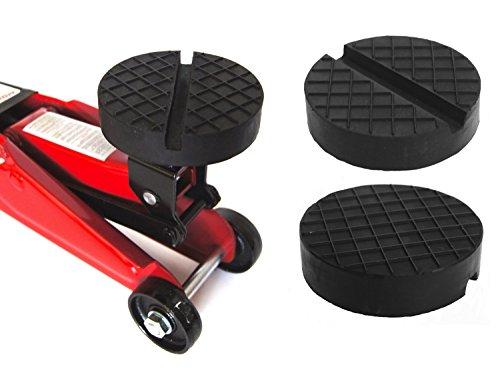 100x25mm mit V-Nut/Waffel Gummiauflage Gummi-Unterlage Auflage Wagen-Heber Hebebühne rund Auto Klotz Rangier-Wagenheber Puffer Reifen Reifenwechsel LKW Räder KFZ Tuning Zubehör