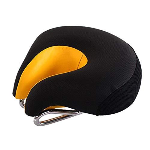 Fahrradsattel Ohne Nase Fahrrad Sitze Gel Sitzbezug für Fahrrad Mountainbike-Zubehör Fahrradzubehör für Männer Fahrradsitzbezug Gepolstert orange,Free Size