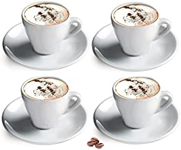 Cuisinox CUP-455 Porcelain Cappuccino Cups, Set of 4, White