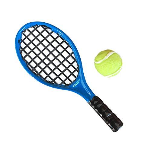 EXCEART 4 Unids Raqueta de Tenis Modelo de Casa de Muñecas Realista Mini Resina Casa de Muñecas Modelo de Raqueta de Tenis Mini Simulación Modelos de Raqueta de Tenis para Accesorios de