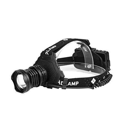 AYGANG Linterna Cabeza,Linterna Frontal Proyector de LED de Alta Potencia LED de la Linterna Recargable USB Cabeza zumbido de la Linterna de la antorcha Cabeza (Emitting Color : XHP90.3 C)