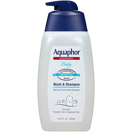 Aquaphor Baby Cleansing Wash And Shampoo 16 Ounce Pump (500ml) (3 Pack)