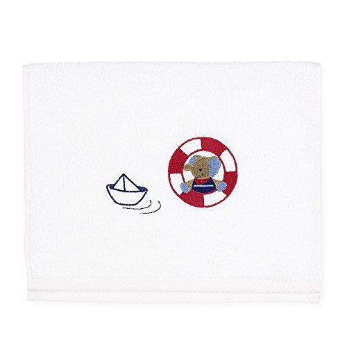 Sterntaler Serviette pour enfants Erwin, Âge: à partir de 0 Mois, 30 x 50 cm, Blanc