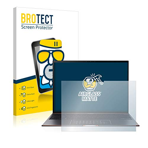 brotect Anti-Glare Glass Screen Protector compatible with Asus Zenbook S UX393EA - 9H Glass Protector Matte