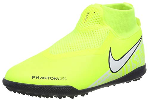 Nike Jr. Phantom Vision Academy Dynamic Fit TF, Botas de fútbol Unisex niño, Verde (Volt/White/Volt 717), 35 EU