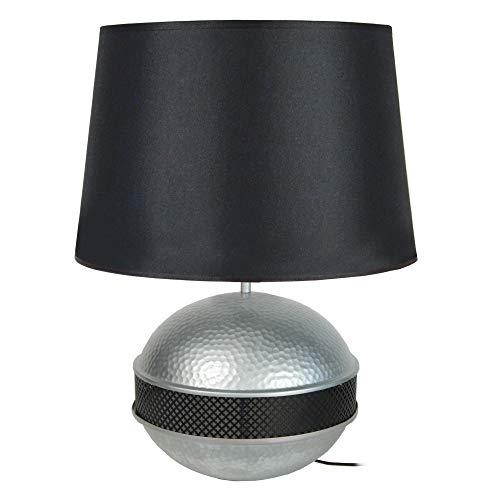 Saigon Tosel 64198 Medium-Lampada da tavolo, lama in acciaio, zigrinato,/pittura epossidica/cotone,...
