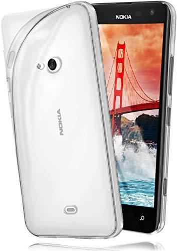 MoEx Cover Trasparente Compatibile con Nokia Lumia 625 | Anti-Scivolo ed Extra Sottile, Trasparente