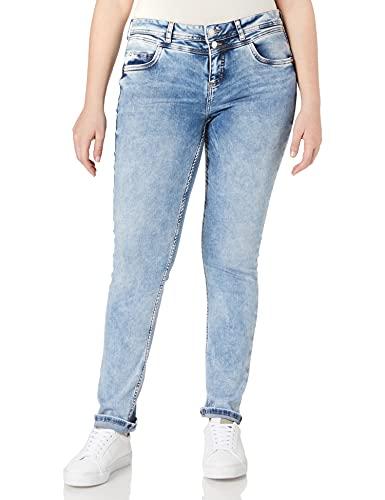 Street One Damen Crissi Jeans, Summer Blue Random wash, W33/L32