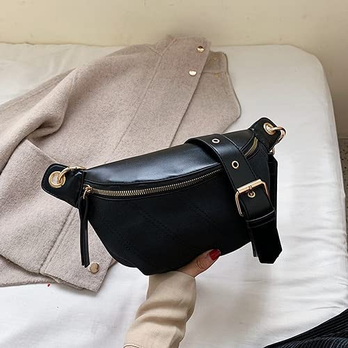 Banana security Waist Bag Women Chest Over item handling PU Belly Leather