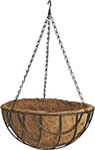 Rocky Mountain Goods Hanging Basket with Natural Coconut Liner - Thick coco liner hanging planter for less watering - Extra strength chain and hook included (1, 14