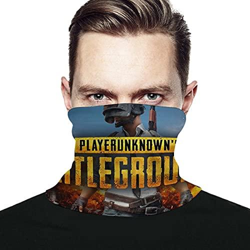 PlayerUnknown's Battlegrounds - Máscara facial bandanas a prueba de viento, bufanda para cuello, pasamontañas para polvo, exteriores, festivales, deportes, color negro