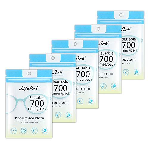 5 Pack Anti-Fog-Tuch, Brillenreinigungstücher, Reinigungstuch für Brillen, Tabletten, Bildschirme, Objektivtuch für Kameraobjektive