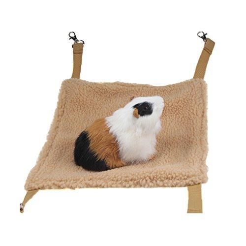 Emours Hängematte für Kleintiere, Hamsterhaus, hängendes Bett, Käfig, Spielzeug für Mäuse, Ratten, Frettchen, Chinchilla und mehr, braun