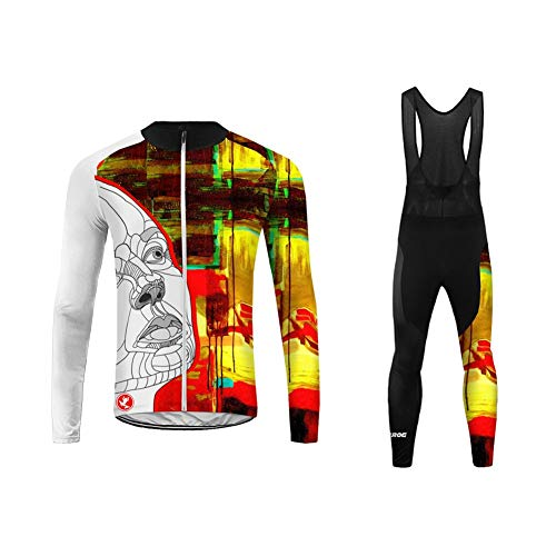 UGLY FROG Ropa Ciclismo Invierno para Térmica de Equipo Profesional para Hombres - Ciclismo Maillot MTB de Manga Larga y Culotte Pantalones Acolchado20D