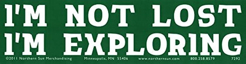 """I'm Not Lost, I'm Exploring - Bumper Sticker/Decal (11.25"""" X 3"""")"""