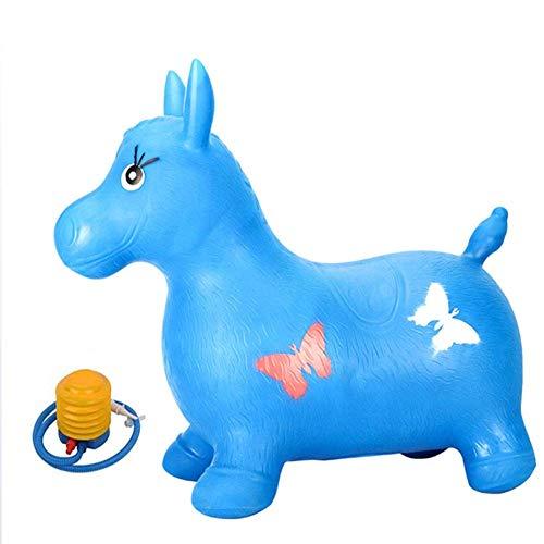 YUEBAOBEI Aufblasbares Spielzeug Hopping Pferd, Außen Padded Pony, Ex-Schutz, Baby-Vault, Geschenke für Kleinkinder Jungen und Mädchen unter 5 Jahre alt,B