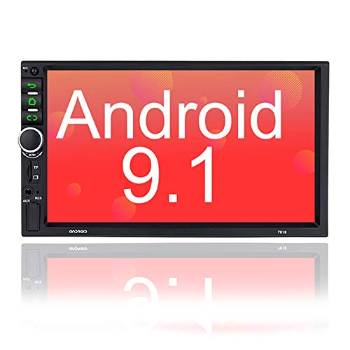 Binize 7 Inch Double Din Android Car Stereo, in-Dash Multimedia Player,with GPS Navigation,FM,Bluetooth,WiFi,USB/TF/AUX Input,Back up Camera Input(B7918 2G RAM+32G ROM)