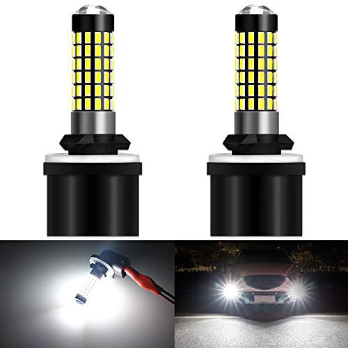 KATUR 880 886 890 892 Bombilla de luz LED 900 LM 3014 78SMD Lente Bombillas LED para Luces antiniebla DRL, Xenón Blanco (Paquete de 2)