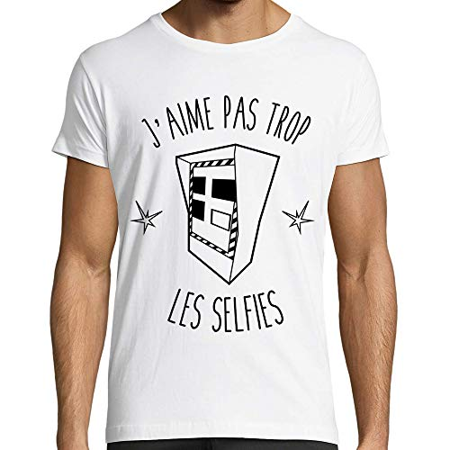 Marvelous Brand T-Shirt Homme Blanc, Moto, Motard - Radar Selfie (M)