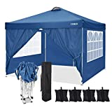 "COBIZI Pop-up Canopy 10""x10"" Foldable 210D&600D Waterproof Oxford Cloth Awning Commercial Beach Garden Tent for Hiking, Camping, Fishing, picnics, Family outings"