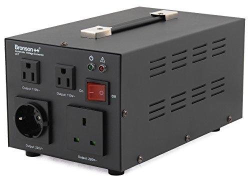 Bronson++ AVT 2000-110 Volt Transformator Spannungswandler USA Converter - 2000 Watt - Step-up/-down Ringkern-Trafo - Bronson 110V 2000W
