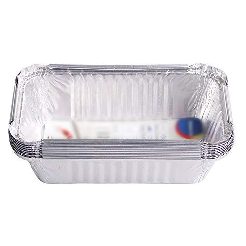 Wghz Cake Tins 20pcs Aluminum Foil Loaf Pan Disposable Oblong Baking Bread Tins 630ml Capacity for Homemade Cakes