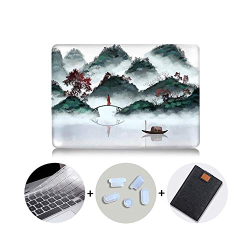 PrettyR Ink Painting Laptop Case for MacBook Pro Air Retina 11 12 13 15 16 inch Touch Bar 2020 Cover for MacBook Pro 13 Funda a2289-MB07-12 inch Retina A1534
