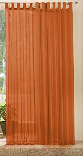 Gardine transparent Set,61175 Terrakotta 245x140, 611752