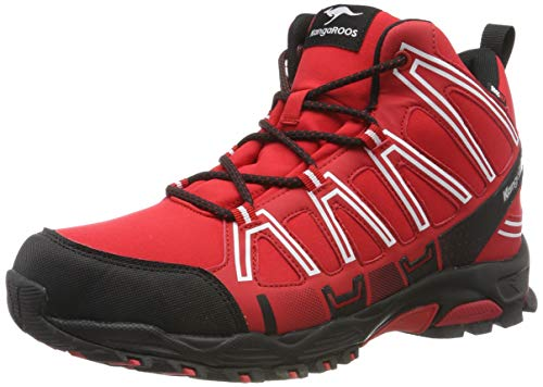 KangaROOS Herren K-Hike Mid RTX Cross-Trainer, Rot (red/Jet Black 6168), 42 EU