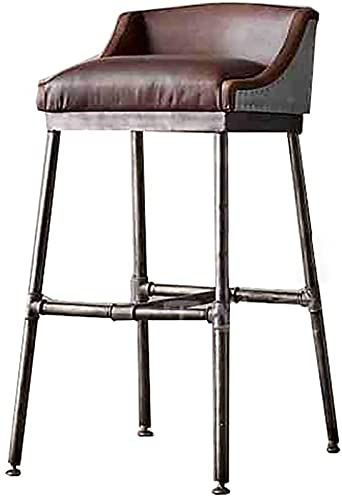 WENLI Adjustable Barstools Bar Stool, Metal High Chair, Home Lounge Chair, PU Leather Upholstered Chair, Kitchen Breakfast Chair, Counter Stool Counter Bar Chairs (Color : 75cm)