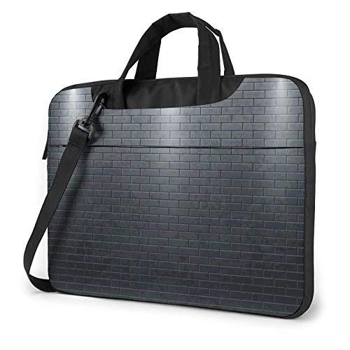 15.6 inch Laptop Shoulder Briefcase Messenger Black Brick Wall Tablet Bussiness Carrying Handbag Case Sleeve