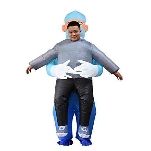 Shirt Luv Inflatable Costume Half-Length Riding Clouths Costume Cosplay for Adult/Kids