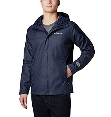 Columbia Men's Watertight II Waterproof, Breathable Rain Jacket, Collegiate Navy, Medium