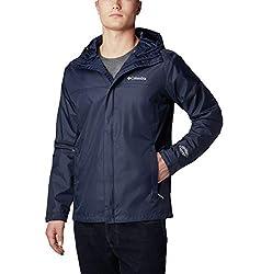 top 10 mens running jacket Columbia Men's Waterproof II Rain Jacket, College Navy, Large