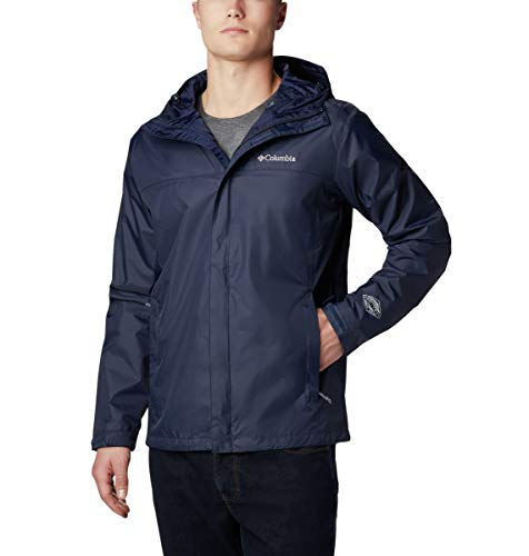 Columbia Men's Watertight II Waterproof, Breathable Rain Jacket, Collegiate Navy, Large