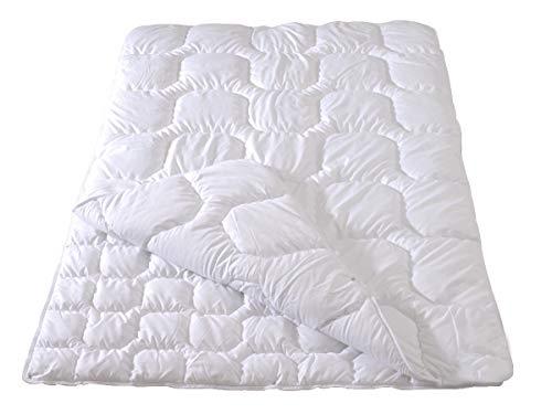 Frankenstolz Microfaser Vierjahreszeiten- Steppbett Kochfest Nevada 155x220 cm, Flexible Bettdecke knöpfbar, waschbar bis 95°C, für Allergiker geeignet