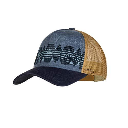 Buff Herren Trucker Cap, Tzom Stone Blue, One Size