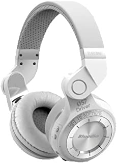 Bluedio T2 Turbine Bluetooth Wireless Stereo Rotary Headphones with Mic 57mm Drivers White