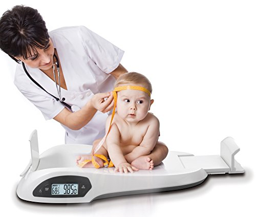 Ozeri All-in-One Baby and Toddler Scale - with Weight and Height Change Detection, White