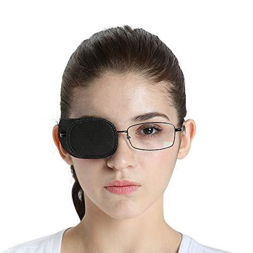 FCAROLYN 6pcs Eye Patch for Glasses (Normal Size, Black)