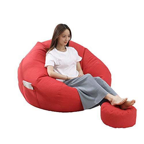 STTC Sitzsack Sitzkissen, Premium Riesen-Sitzsack-Hülle Sitzsack Außenbezug Pouf Leere für Jugendliche und Erwachsene, ohne Füllung,S3,90 * 100cm