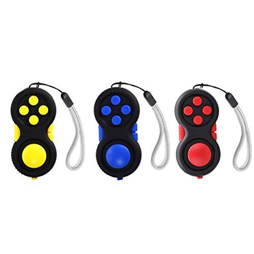 Pywee 3 Stücke Hand Zappeln Spielzeug Zappeln Pad Zappeln Controller Pad Spielzeug für Angst Autismus Stressabbau
