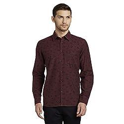 Parx Mens Plain Slim Fit Casual Shirt